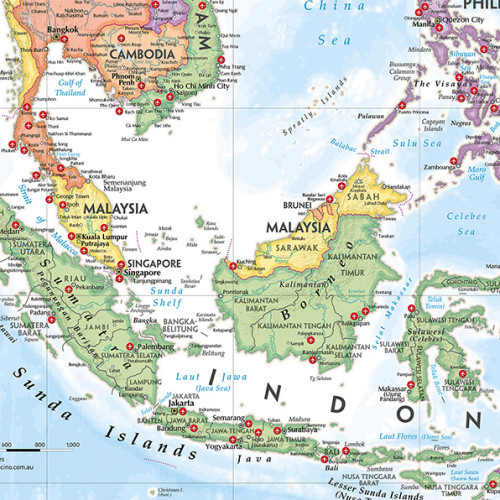Customised Maps Indonesia